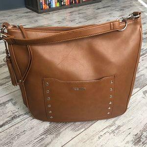 Nine West BEAUTIFUL Leather Hobo Shoulder Bag